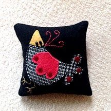 Shirley Dawson little bird pin cushion