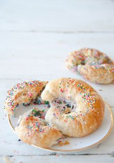 Get the recipe for these funfetti birthday croissants via Claire of The Kitchy…