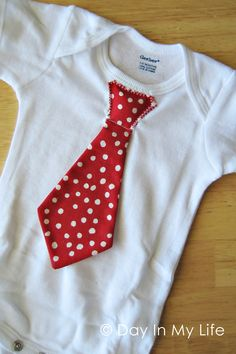 When Harvey was tiny, I searched everywhere for a onesie with a tie printed on the front. But.. I never did find one. I thought about mak...