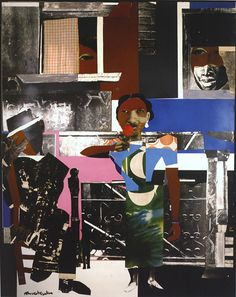 original collage by renowned artist Romare Bearden