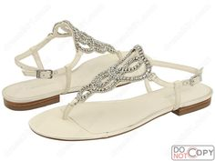 Gorgeous Ivory Flat Wedding Shoes WS016