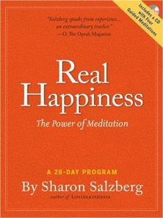 In an inviting, easy-to-follow format, Salzberg (Lovingkindness: The Revolutionary Art of Happiness), cofounder of the Insight Meditation Society, provides a 28-day program for incorporating meditation into one's life.   http://find.minlib.net/iii/encore/record/C__Rb2863756