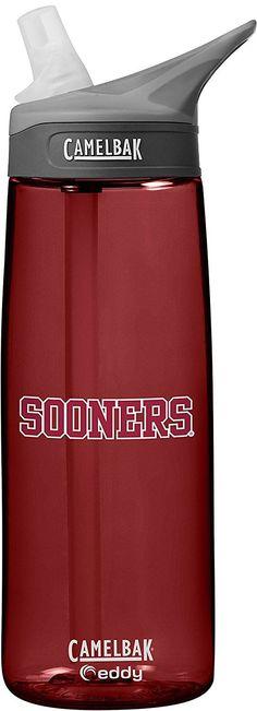 NCAA Oklahoma Sooners Unisex CamelBak Eddy 75L Collegiate Water Bottle, Cardinal, 75 Liter