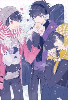 Osomatsu-san Ichimatsu, Jyushimatsu, and Todomatsu #Anime「♡」