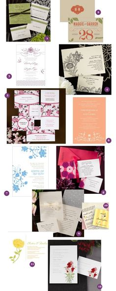 garden wedding invitations in many styles