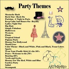 list of bunco themes