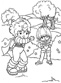 22 Best Rainbow Brite Coloring Pages Images Coloring Book