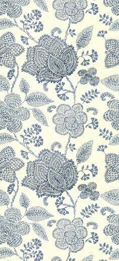 Modern paisley floral print in blue and cream Motifs Textiles, Textile Prints, Textile Patterns, Color Patterns, Print Patterns, Pattern Texture, Surface Pattern Design, Pattern Art, Fabric Wallpaper