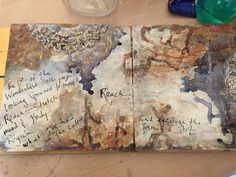 Experiments in Paper with an art journal page for Wanderlust 2016; Jan 2016