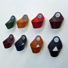 Large Leather 'Twist' Drawer Cabinet Pulls. by TheLeatherHandleCo