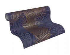 Vliestapete blau gold Tiere Architects Paper 96108-5 online bestellen