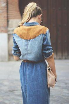 Джинсовое платье hm