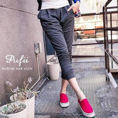 Buy 'PUFII – Cotton Harem Pants' at YesStyle.com.au plus more Taiwan items and get Free Express Shipping on qualifying orders.