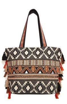 Big Buddha Bead Embellished Tote available at #Nordstrom