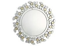 Wreath Mirror on OneKingsLane.com