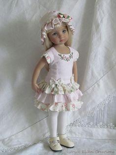 "13"" Effner Little Darling BJD fashion pink ruffles dress OOAK handmade by JEC #ClothingAccessories"