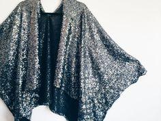 Silver Sequin Kimono by StellaAndStosh on Etsy
