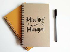 Check out this item in my Etsy shop https://www.etsy.com/listing/242710667/mischief-managed-5x8-writing-journal