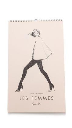 Rifle Paper Co Garance Dore Collection 2015 Les Femmes Calendar - Multi by: Rifle Paper Co @Shopbop