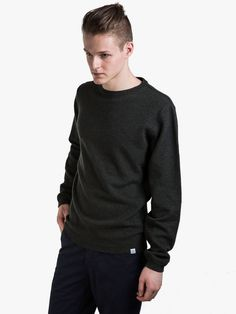 Norse Projects Strickpullover Sigfred Lambswool Rosin Green