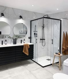 Bathroom Interior Design, Decor Interior Design, Modern Bathroom Design, Interior Decorating, Decorating Ideas, Decor Ideas, Dream Home Design, House Design, Bathroom Goals