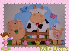 imagenes de la granja en goma eva - Buscar con Google Kids Crafts, Bunny Crafts, Diy And Crafts, Paper Crafts, Class Decoration, School Decorations, Farm Animal Crafts, Barn Wood Crafts, Farm Birthday