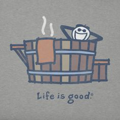 Rustic Hot Tub Crusher Tee|Life is good