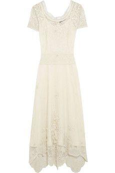 Sophia Kokosalaki Bolina besticktes Kleid aus Baumwoll-Tüll | NET-A-PORTER