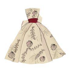 Robe à motif plage, imaginée par Yves Saint Laurent pour ses Paper Dolls http://www.vogue.fr/culture/a-voir/diaporama/les-archives-d-yves-saint-laurent-devoilees-en-ligne/13869/image/771641#robe-a-motif-plage-imaginee-par-yves-saint-laurent-pour-ses-paper-dolls