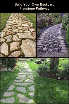How to Build Your Own Backyard Flagstone Pathway  Enhance your garden's beauty with the help of this DIY flagstone pathway guide.