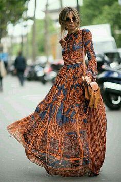 Богемный Стиль, Богемная Мода, Винтаж Шик Мода, Уличный Стиль, Мода Красота, Неделя От Кутюр, Длинные Повседневные Платья, Модные Тенденции