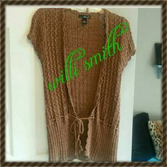 $$  Willi Smith cardigan Very cute brown cardigan with front tie. Very gently used Willi Smith Sweaters Cardigans