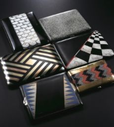 COLLECTION OF SIX ART DECO CIGARETTE CASES COLLECTION OF SIX ART DECO CIGARETTE CASES Estimate 15,000 — 20,000 USD.  I suspect this lot did not sell because, although the pieces are great, they are not signed by a famous artist of the period.
