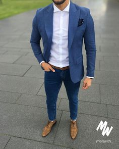 142 affordable mens clothing ideas that trendy right now – page 1 Semi Casual Mens Outfits, Blazer Outfits Men, Formal Men Outfit, Mens Fashion Blazer, Business Casual Outfits, Suit Fashion, Men Casual, Modest Fashion, Mode Costume
