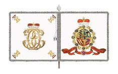 Prinz Louis Infantry - Project Seven Years War Pictures Of Flags, Stag Antlers, Seven Years' War, Black Eagle, Holy Roman Empire, Checkerboard Pattern, French Army, Louis Xiv, Historia
