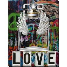 Picture Perfect International By Jodi 'Wings Love 2' Giclee Stretched Canvas Wall Art