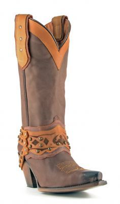cowgirl choclate Corral ladies chocolate brown w/gold sequin inlay fleur de lis snip ($225) liked on polyvore featuring shoes, boots, fleur de lis cowgirl boots, western boots, mid.