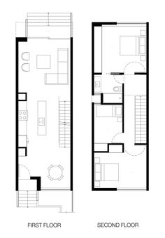 Minimalist house plans are characterized by simple forms, open floor plans, minimal interior walls, & an emphasis on views & daylight. Narrow House Designs, Narrow House Plans, Small House Design, Modern House Plans, Small House Plans, Modern House Design, The Plan, How To Plan, Basement House Plans