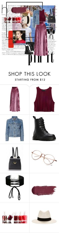 """Untitled #11"" by irichca ❤ liked on Polyvore featuring LUISA BECCARIA, Helmut Lang, Dr. Martens, WithChic, Miss Selfridge, Essie and rag & bone"