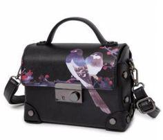Retro Bird Pattern Shoulder Bag