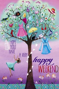 Happy weekend artist Illustration by www.MilaMarquis.com and www.Facebook.com/MilaMarquisillustration
