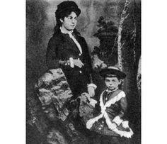Краљица Наталија са сином Александром - Queen Natalija Obrenovic of Serbia with her son Aleksandar.