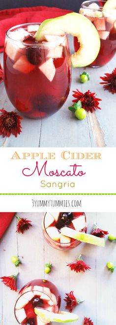 Apple Cider Moscato Sangria