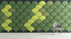 Panel acústico de fieltro / mural / de colores / para oficina - GINKGO - Blå Station