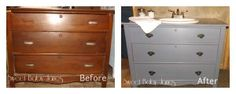 Making a Bathroom Vanity from a Dresserhttp://www.sweetbabyjanes.org/tuesdays-teezer/making-a-bathroom-vanity-from-a-dresser/