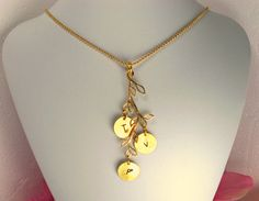 Personalized Gold Family Tree Necklace Tree by CharmAccents, $20.00