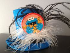 Cookie Monster Mini Top Hat  Great for Birthday by daisyleedesign