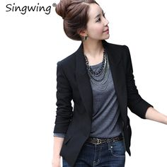 Singwing Autumn Black Women Blazers Slim Style Suit V-NECK ladies Office Blazers Coat Fashion Solid Color Business Suit Blazer  FREE Shipping Worldwide  Get It here ---> https://thewomandress.com/singwing-autumn-black-women-blazers-slim-style-suit-v-neck-ladies-office-blazers-coat-fashion-solid-color-business-suit-blazer/
