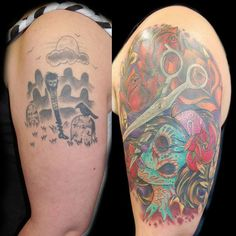 awesome 28 Graceful Cover Up Tattoo Ideas Cover Up Tattoos, Cool Tattoos, Tatoos, Graveyard Tattoo, Tattoos Gallery, Tattoo Designs, Tattoo Ideas, Celebrity Hairstyles, Tatting