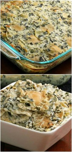 This Spinach Artichoke Ravioli Bake Is Just The Perfect Easy Dinner Dieser Spinat-Artischocken-Ravio Food Network, Spinach Ravioli, Easy One Pot Meals, Easy Dinners, Glass Baking Dish, I Love Food, Pasta Dishes, Food To Make, Cooking Recipes